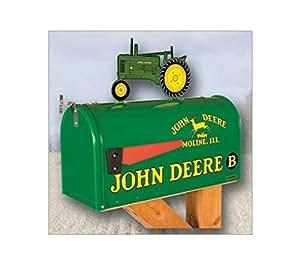 John Deere pour modèle B–Style rural boîte aux lettres avec Tracteur