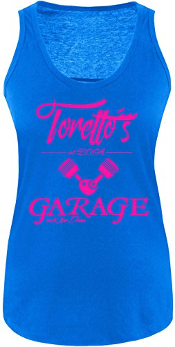 EZYshirt® Toretto´s Garage Damen Tanktop Royal/Pink