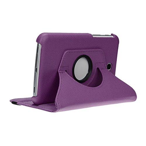 doupi Deluxe Schutzhülle für Samsung Galaxy Tab A (7 Zoll), 360 Grad drehbar Tablet Etui Schutz Hülle Ständer Cover Tasche, lila