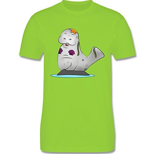 Sonstige Tiere - Meerjung-Seekuh - Herren Premium T-Shirt Hellgrün