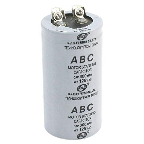 AC 125V 300MFD 300uF 2 Schraubklemmen Motor Start-Kondensator