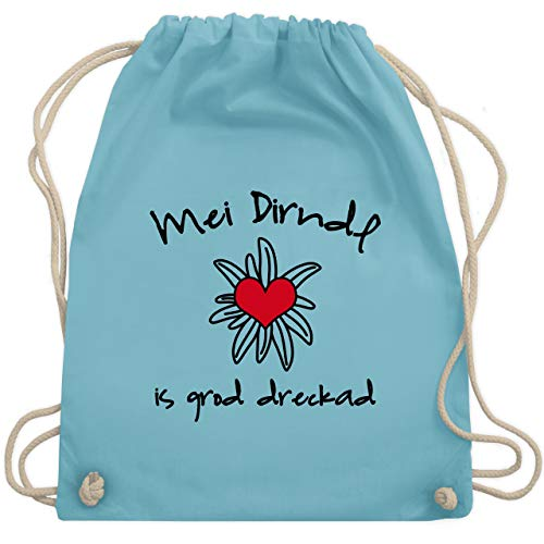Dirndl is dreckad - Shirt statt Dirndl - Unisize - Hellblau - WM110 - Turnbeutel & Gym Bag -