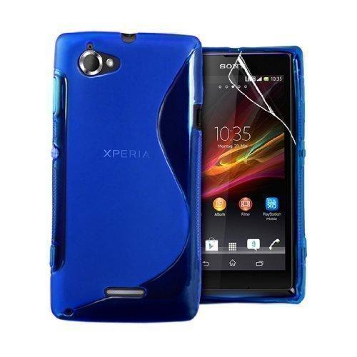 GADGET BOXX SONY XPERIA L S36H C2105 S-LINE Silikon-Gel in ROT ABDECKUNG FALL und Bildschirmschutz