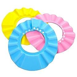 BESTOW New Adjustable Safe Soft Bathing baby Shower Cap Wash Hair For Children