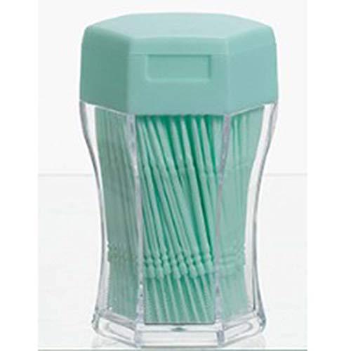 LouiseEvel215 200 Teile/Satz Doppelkopf Zahnseide Hygiene Zahnseide Kunststoff Interdental Zahnstocher Gesund für Zahnreinigung Mundpflege