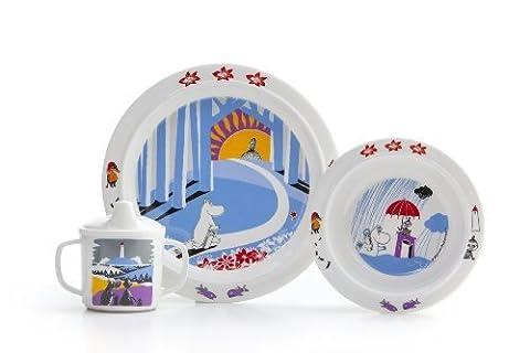 Moomin - Children's Dinnerware set -How does it go?- 3-pcs. - Gift set (R?tt Start) [6911] by R?tt Start