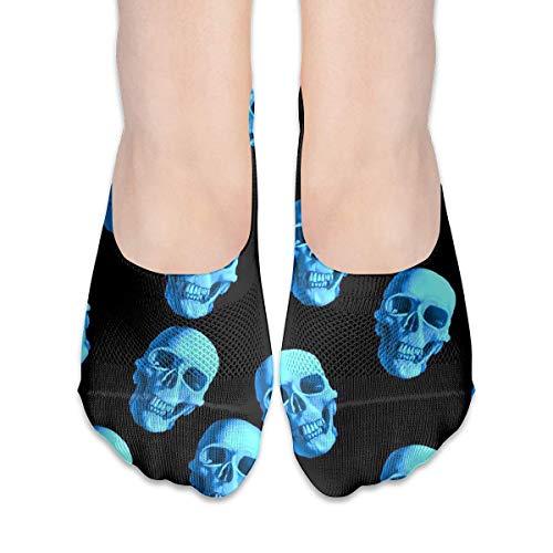 deyhfef No Show Socks Blue Skull Pattern Low Cut Liner Socks Casual Hidden Thin Socks For Women - Farbton Cotton Liner