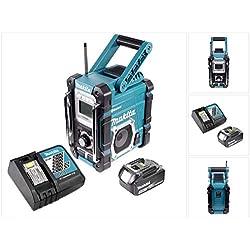 Makita Radio DMR 106 7,2-18 V Radio de chantier sans fil avec Bluetooth + 1x Batteries 3,0 Ah + Chargeur