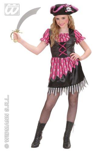Kinder-Kostüm-Set Flottes Piraten-Girl, Größe 128