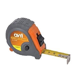 AVIT AV02010 Heavy Duty Tape Measure, Grey/Orange, 3 m/10 ft