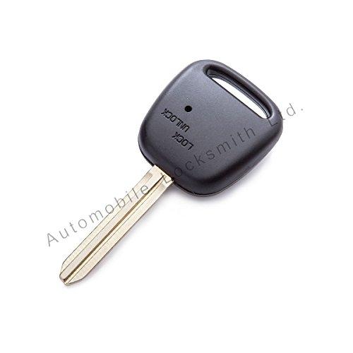 1 bouton latéral pour Toyota Coque avec Porte-Clé à Télécommande TOY43 Porte-lame