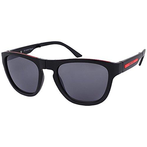 Sonnenbrille Panto Brille getönt Faltbrille faltbar 400 UV schwarz rot