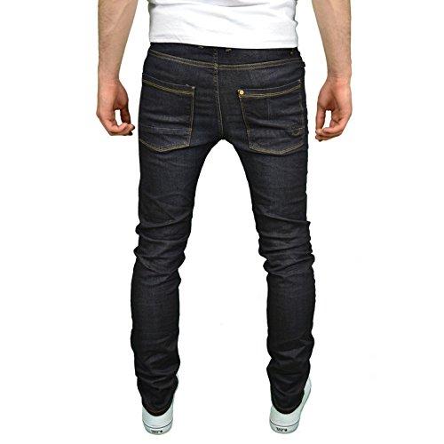 Foray design jean stretch pour homme moulant Bleu - Brooker Dunkel