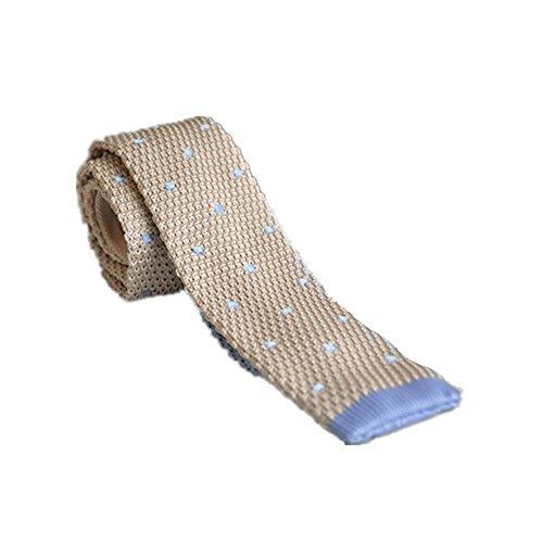 Krawatten und Fliegen für Herren Krawatte Gestrickte Krawatte Business Casual Dress Verheiratet Beige Woven Tie Man Krawatten und Fliegen für -