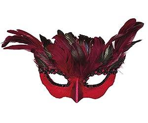 Boland 00822Ojo Máscara Teufel Mujer, Mujer, Color negro/rojo