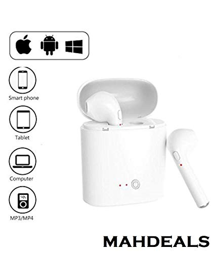 Mahdeals Level I Headphone Stereo Sound Bluetooth Wireless Universal for All Devices - Pop up Window Pairing-(White) Image 4