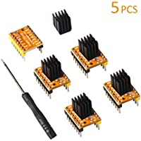 Eryone Stepper Motor Driver TMC2208, 5pcs Stepper Motor Driver For FDM 3D Printer mother board Packed with Heat Sink Screwdriver, Yellow