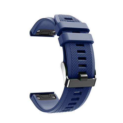 Skryo Ersatz TPU Uhrenarmband für Garmin Fenix 5/5 Plus Smart Watch // Replacement TPU Soft Watch Band Strap for Garmin Fenix 5/5 Plus Smart Watch (Dunkelblau) Ns 5 Band