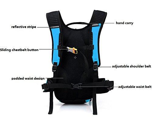 Lerway ® MTB Fahrrad-Dry Radfahren, Reiten, Laufen, Zelten, Wandern, Packsack, wasserdicht, für Outdoor-Rucksack Daypack Rucksack moderne Sportliche Schulter-Tasche-Tagesrucksack, für Momen Herren, Mä Blau - blau