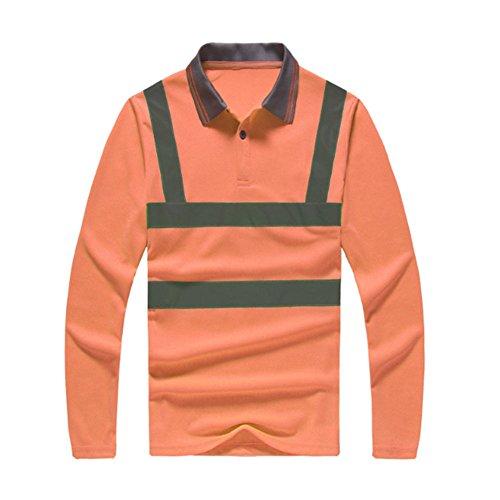 Hzjundasi Reflektierend Lange Ärmel Overall Sicherheit Arbeitsanzug T-Shirt Schnelltrocknend Sicherheit - Fahrrad Shirt Reflektierende