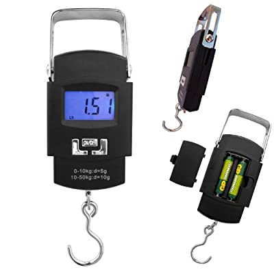 Eforlife DIGITAL FISHING SCALES 50k CARP BASS TROUT SALMON FLY PIKE SALTWATER RIVER FISHING HANGING SCALES. FREE BATTERIES INCLUDED