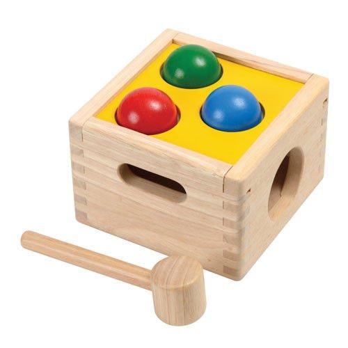 Plan Toys- Punch & Drop Caja golpea y Cae, (1359424)