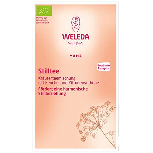 WELEDA Mama Stilltee, Naturkosmetik Milchproduktions-Tee zur Unterstützung der Milchbildung, Bio Kräutermischung mit mildem Geschmack hilft den Feuchtigkeitshaushalt auszugleichen (20 Beutel x 40g)