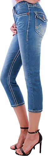 Black Denim -  Jeans  - Pantalone capri - Donna Blau