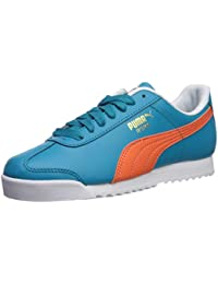 PUMA RomaBasi, Baskets pour Homme WhiteFlame Scarlet