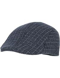 ERQINGBM Boina Boinas De Tela Escocesa para Hombres Gorras De Pico Mantener  Cálidos Sombreros De Invierno De Otoño Visera Masculina… e24ffb5dc9d