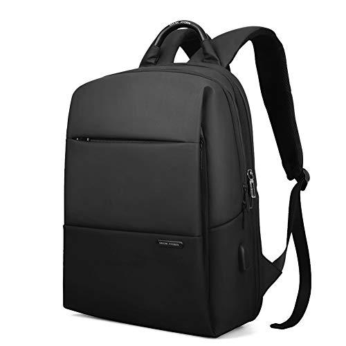 Men's Business Backpack,Reiserucksack 15,6 Zoll Laptop Rucksack Mit USB Ladeanschluss Computer Rucksack Wasserdichter Tagesrucksack Handtasche Im Freien UmhängetascheUnisex Unisex-black-onesize