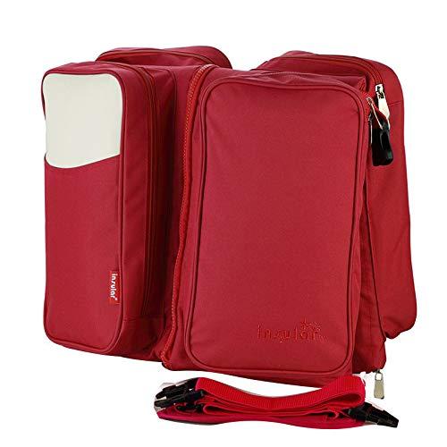 Baby Reisebett Kinderbett Kleinkind Bett Bereit Bett Kinder Schlafsack Mit Weichen Matratze Tragbare Faltbare,Red
