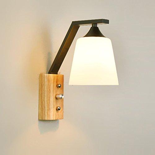 Massivholz kommt mit Schalter Wandleuchte Schlafzimmer Nachttisch-Wandleuchte