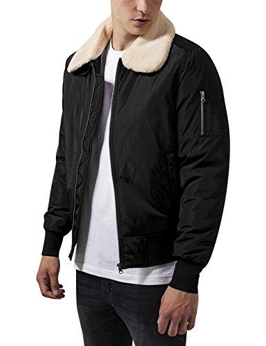 Urban Classics Pilot Bomber Jacket, Giacca Uomo, Nero (Black 7), Large