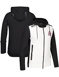 online store d5370 f92ca adidas Reebok Official UFC Kit (BiancoNero), con Cappuccio da Uomo,