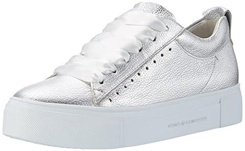 Kennel und Schmenger Schuhmanufaktur Damen Big Sneakers, Silber (Light Silver Sohle Weiss), 38 EU (Herstellergröße: 5 UK)