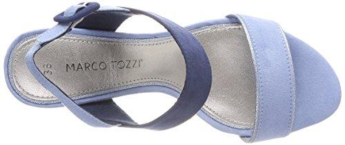 Marco Tozzi Damen 28308 Slingback Sandalen Blau (Lt. Blue Comb)
