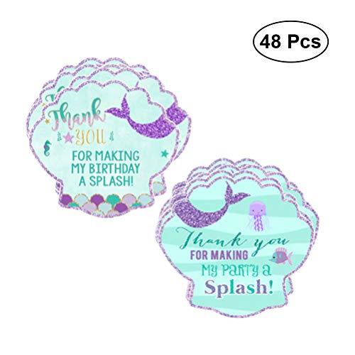 Meerjungfrau Aufkleber Danke Tag Geschenk Aufkleber Papier Tag Party Favor Aufkleber Etiketten für Geburtstag Hochzeit Baby Shower Party Supplies ()