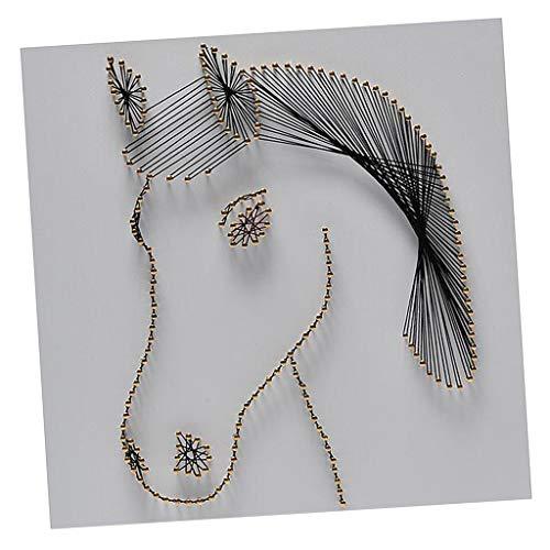 chiwanji Pferd Wooen String Art Kits Für Erwachsene Unter 20 Handgemachte DIY Dekoration