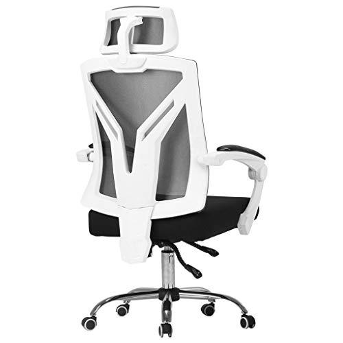 Lehnstühle Computer-Stuhl ergonomischer Hauptstuhl E-Sport Spiel-Stuhl Aufenthaltsraum-Stuhl rückseitiger Stuhl Bürostuhl Sessel (Color : White-A, Size : 68 * 68 * 116CM)
