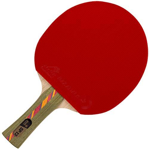 Donier Profi Tischtennisschläger SP-12 PRO | Ping Pong Schläger Hergestellt in der EU | 5-Schicht Holz, Moderate Schnelligkeit, Große Trefferzone | Hohe Spielgenauigkeit, Technische Angriffe (Konkav)