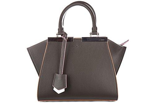 fendi-leder-handtasche-damen-tasche-bag-mini-3-jours-grau
