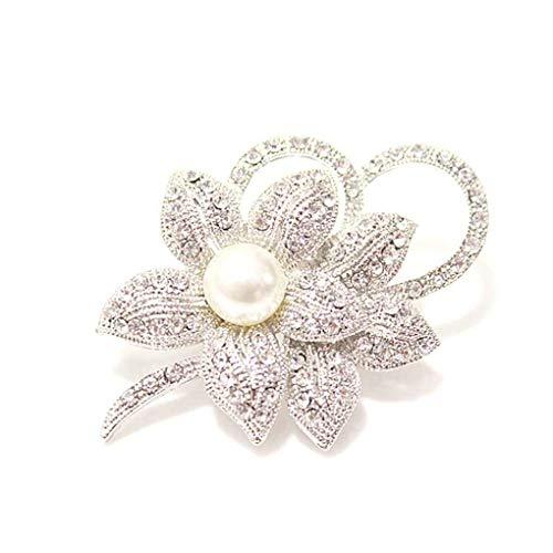 Cristalli ragazza di stile Vintage imitazione spilla di perle donne Distintivo Fiore Abbigliamento Borsa Breastpin Wedding Accessories