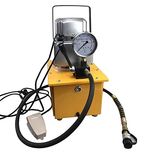 OBLLER Elektrische Hydraulikpumpe Elektrohydraulikpumpe manuelle Ventil Single Acting AC 220V 50HZ,Motor speed: 1400r/Min,Oil capacity: 7L