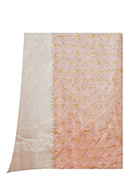 Women's Chanderi Cotton Slawar Suit Dupatta Material Punjabi Traditional Suit Light Peach