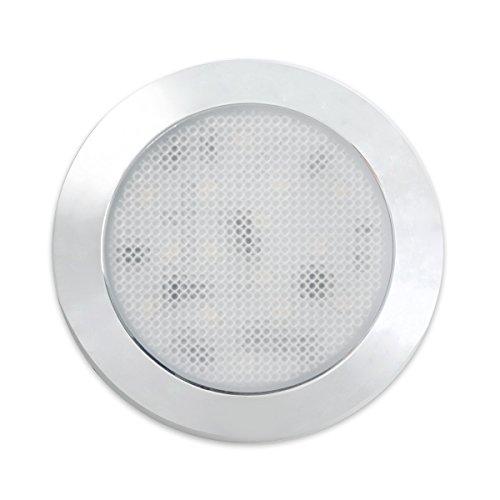 Preisvergleich Produktbild Dream Lighting 12V 76mm LED Deckenleuchte / LED Unterbauleuchte für Wohnwagen / Reisemobil / Wohnmobil,  Kalt Weiß