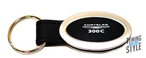 dantegts-chrysler-300c-logo-black-leather-oval-metal-key-chain
