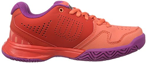 Wilson Unisex-Kinder Kaos Comp Jr Radiant.R/Coral Punc/P Tennisschuhe Mehrfarbig (Radiant Red X166)