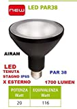 Lampe LED PAR3820W E27Warmweiß IP65Garten Spot Erdspieß Leuchtturm Airam