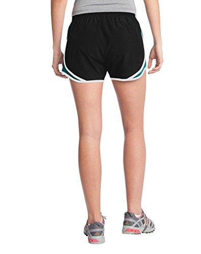 Sport-Tek - Short - Femme Black/Tropic Blue/White